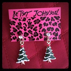 Betsey Johnson Christmas Tree Pierces Earrings